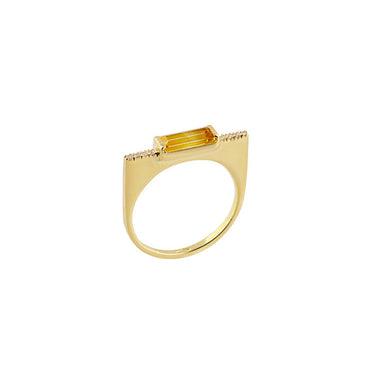 18-carat yellow gold rosie ring