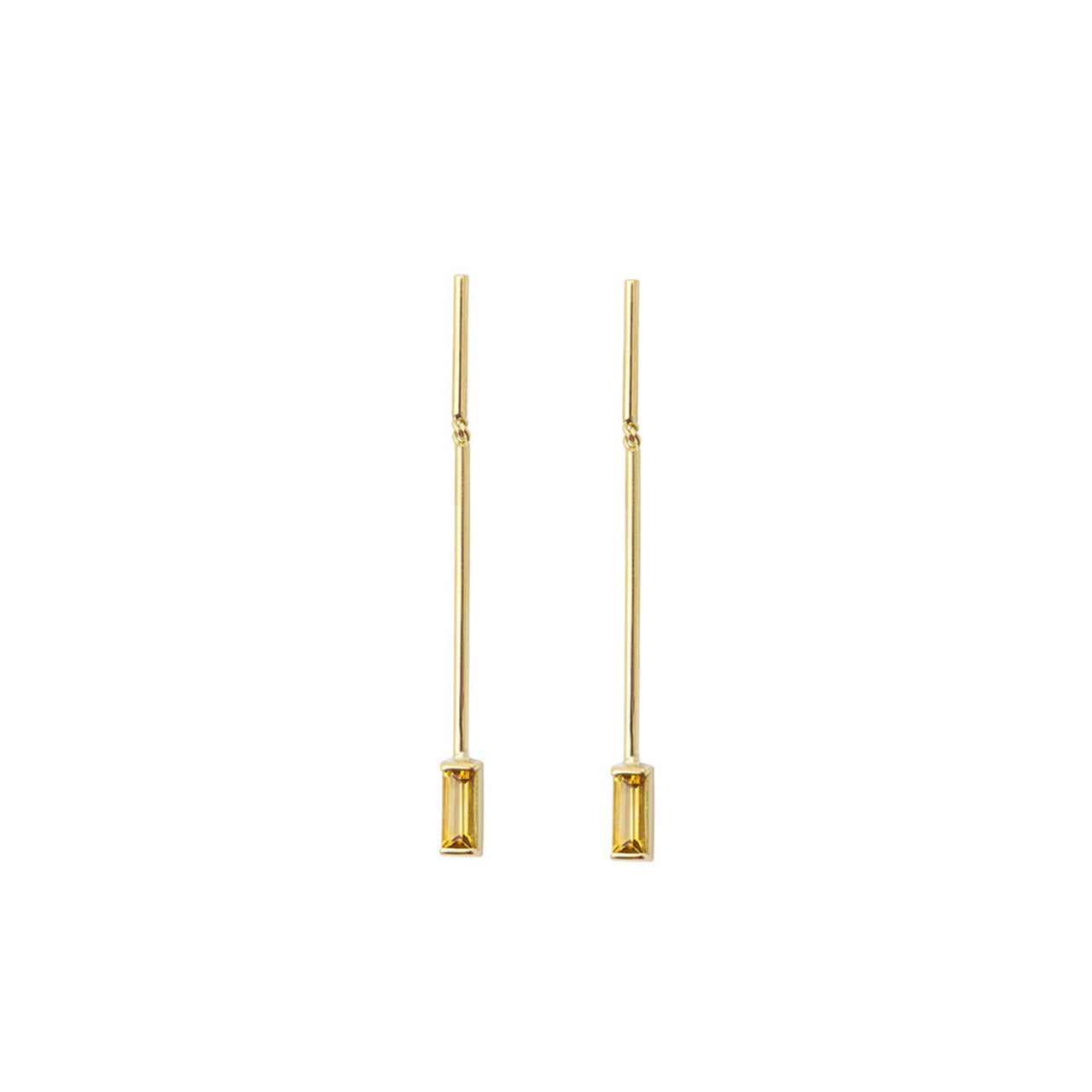 18-carat yellow gold elina earrings