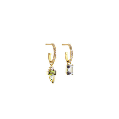 18k yellow gold esmée diamond hoops