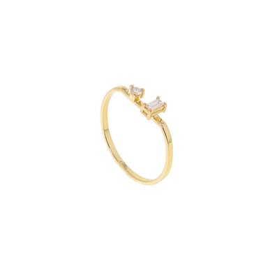 18-carat yellow gold rune ring