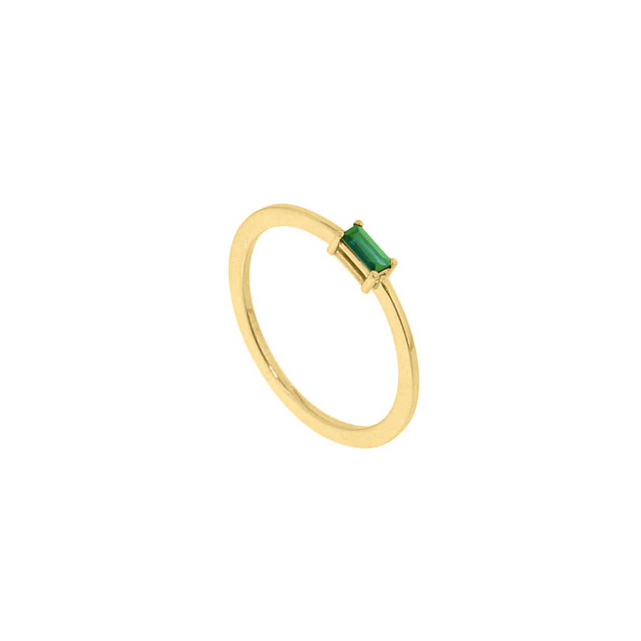 18k yellow gold emerald ruth ring