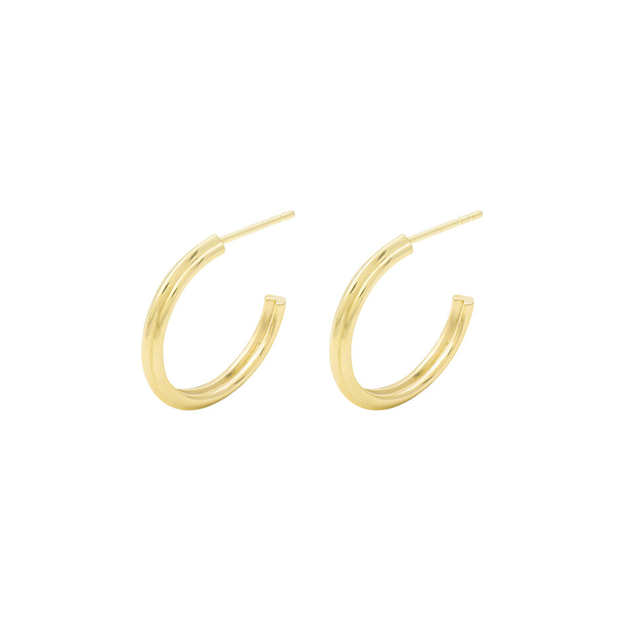 18k yellow gold esther hoops