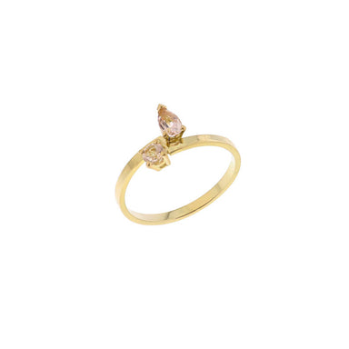 18-carat yellow gold riva ring