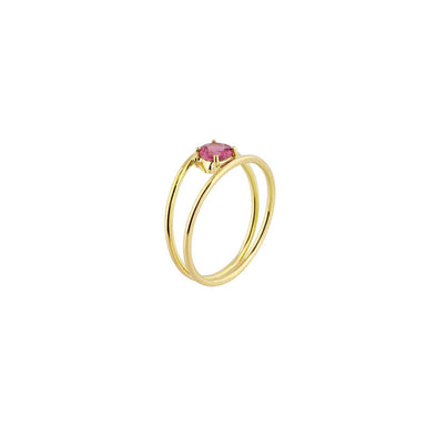 18-carat yellow gold robin ring
