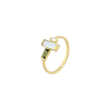 18-carat yellow gold renate ring