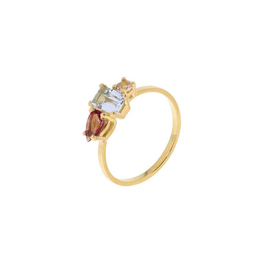 18-carat yellow gold rosa ring