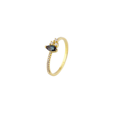 18-carat yellow gold rachelle ring