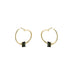 18k yellow gold tourmaline hoops
