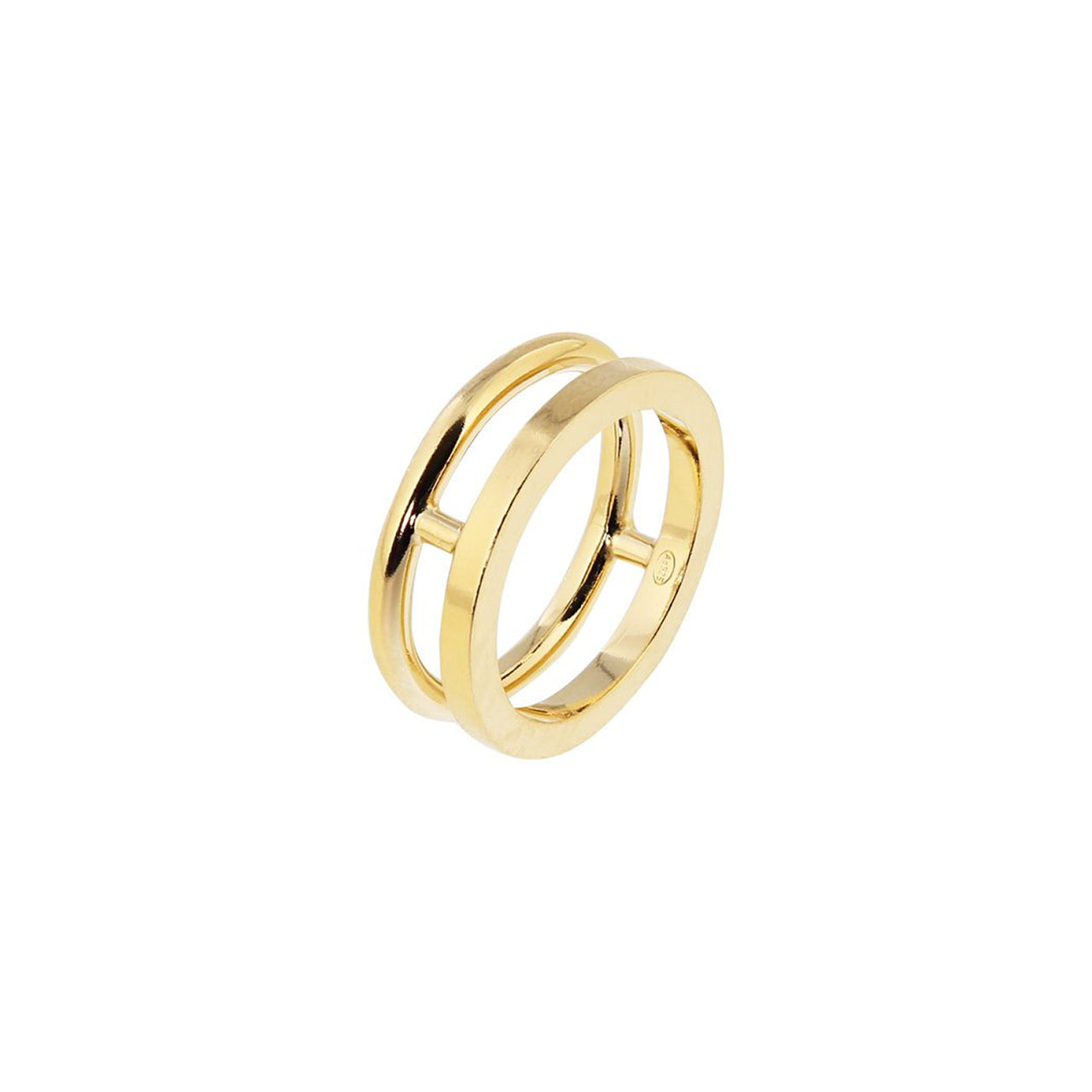 arte gold double ring