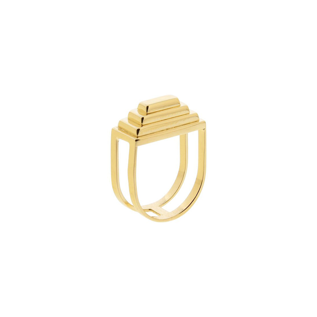 arte gold pyramid ring