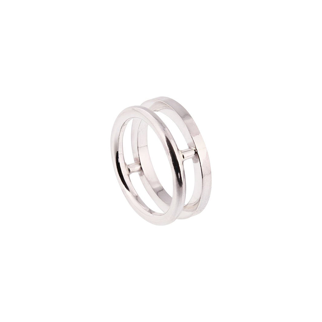 arte silver double ring