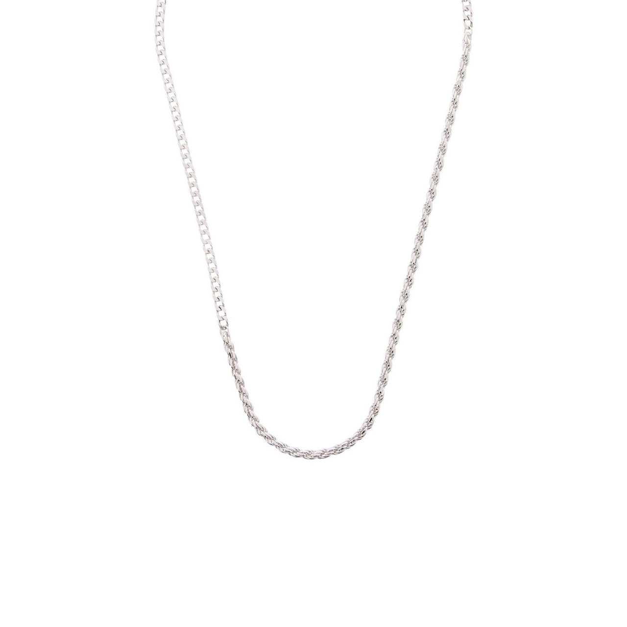 arte silver gourmet chain necklace