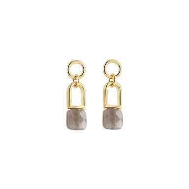 gold F11 earrings