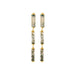 gold agate cylinder earrings