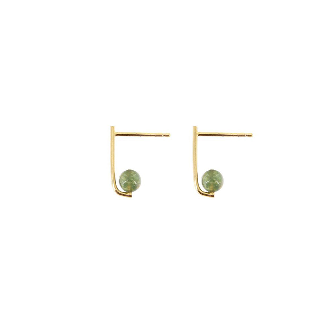 gold agate earrings