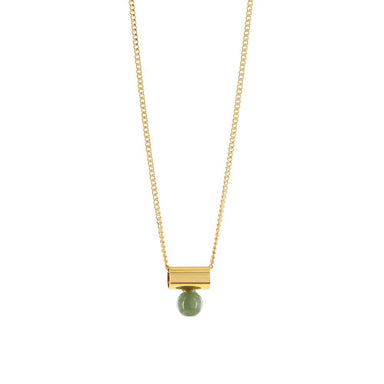 gold agate pendant necklace