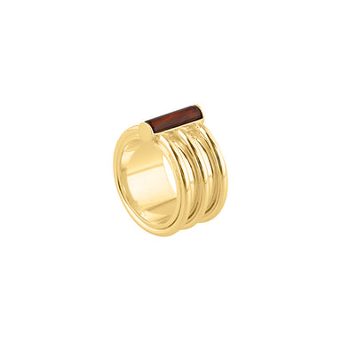 gold agate statement ring