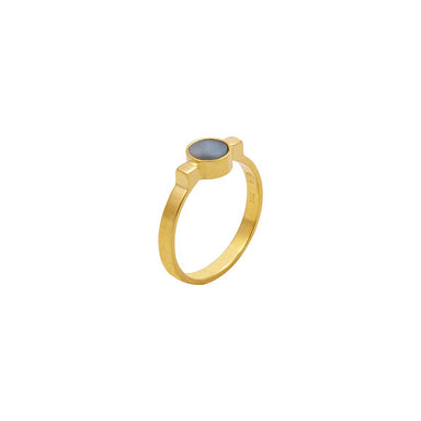 gold amazonite ring