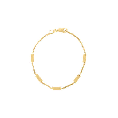 gold architecture inspired bracelet