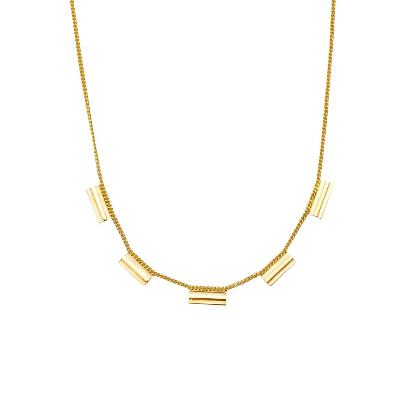 gold architecture inspired necklace