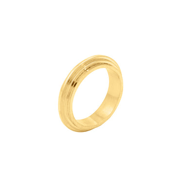 gold architecture-inspired ring