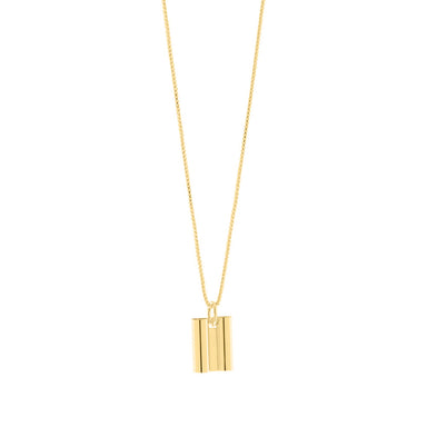 gold art deco tube pendant necklace