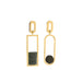 gold asymmetric jasper serpentine earrings