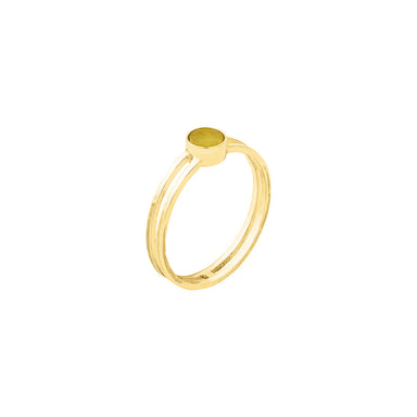 gold aventurine ring