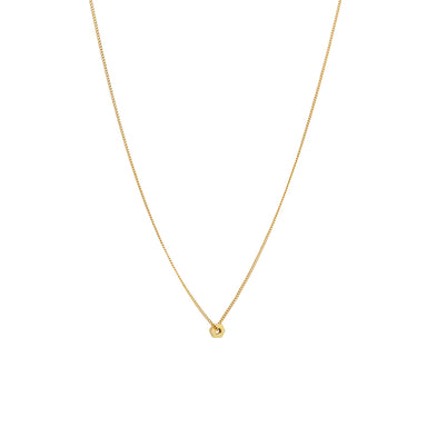 gold bolt necklace