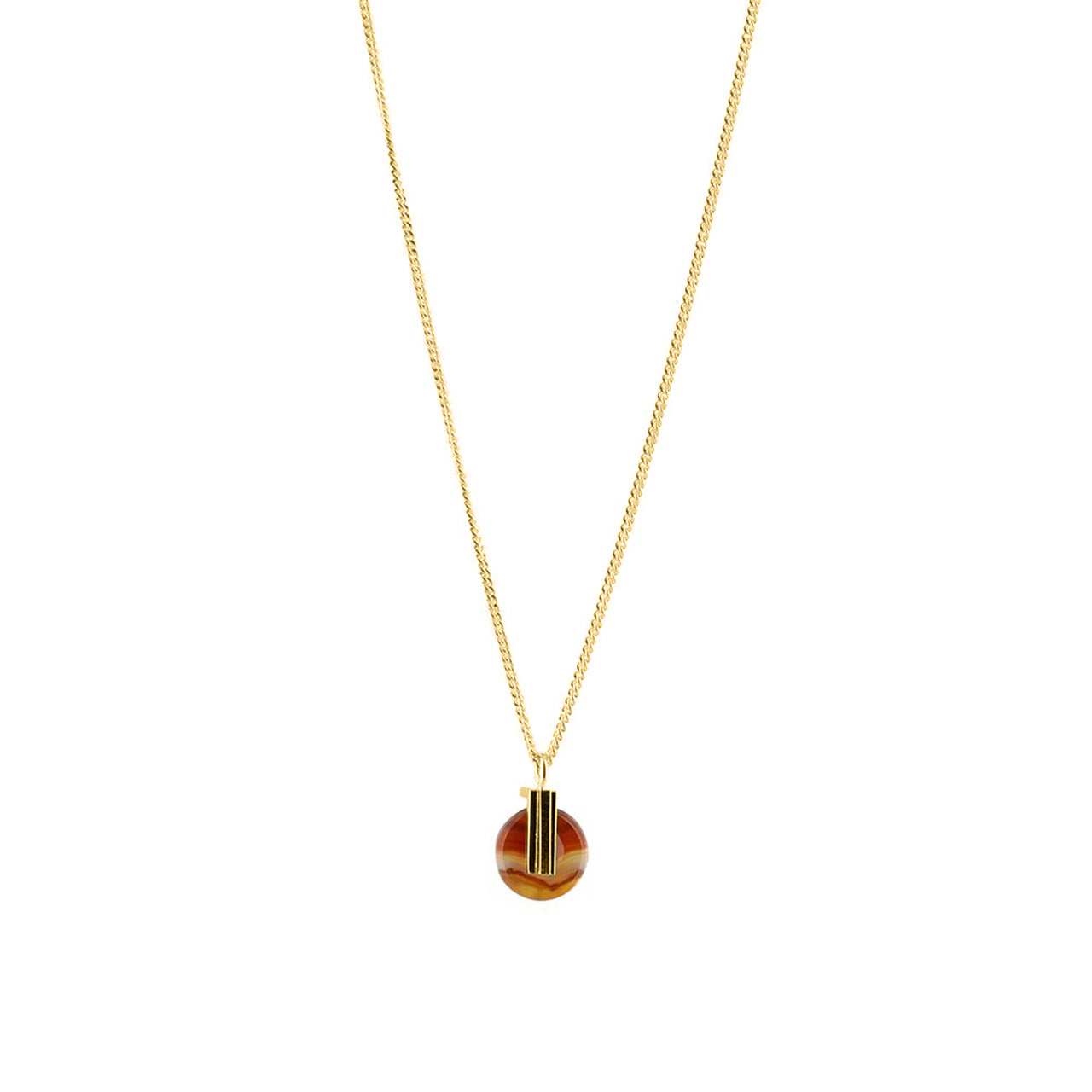 gold carnelian agate pendant necklace