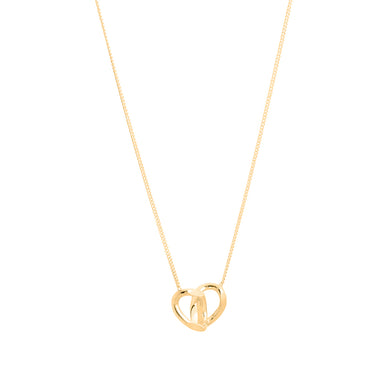 gold double link pendant necklace