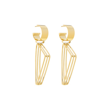 gold edith earrings