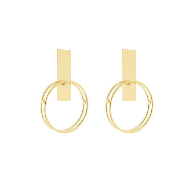 gold eliane earrings