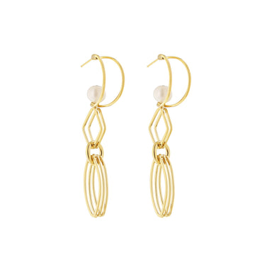 gold ella earrings