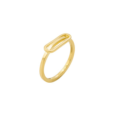gold ellipse ring