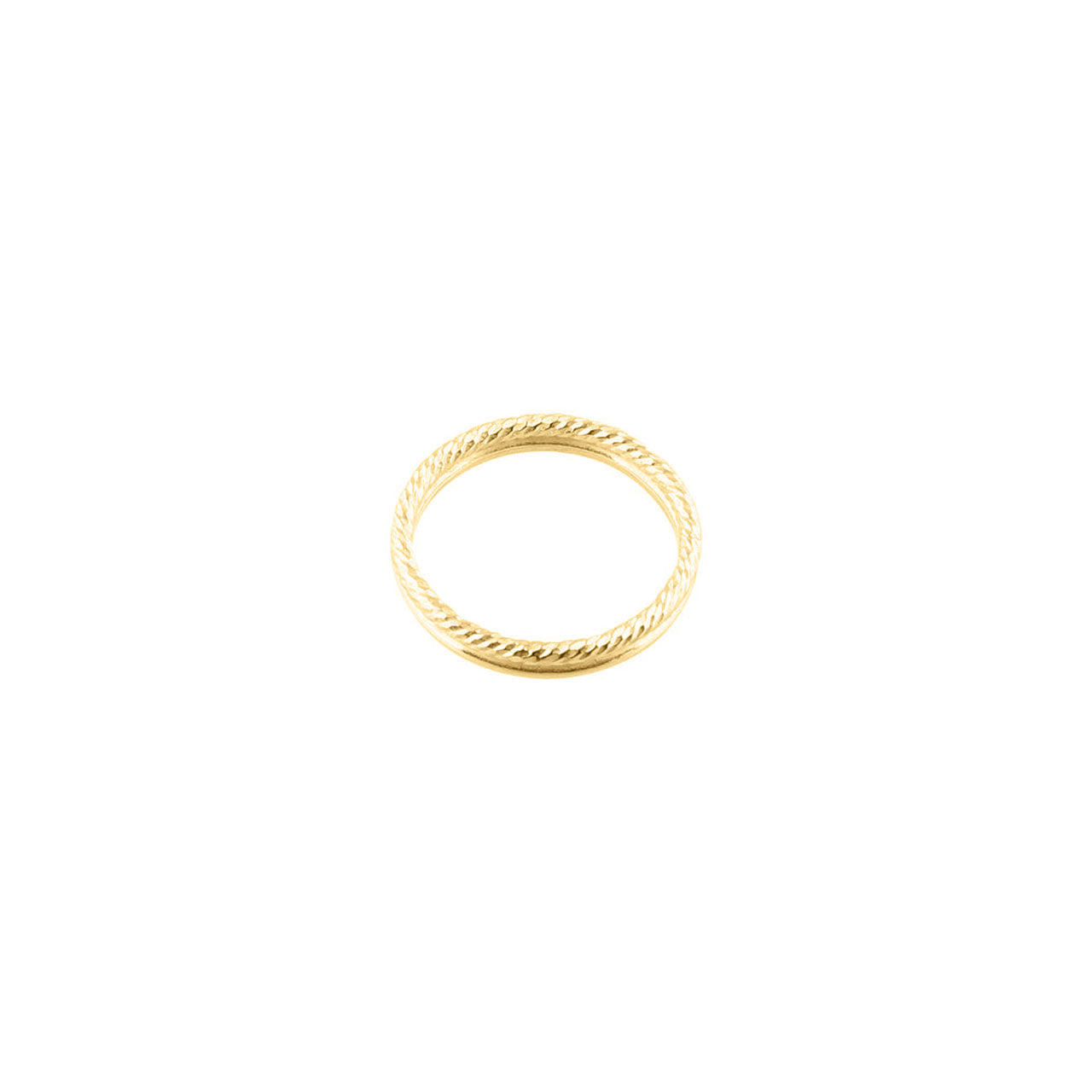 gold engraved double ring