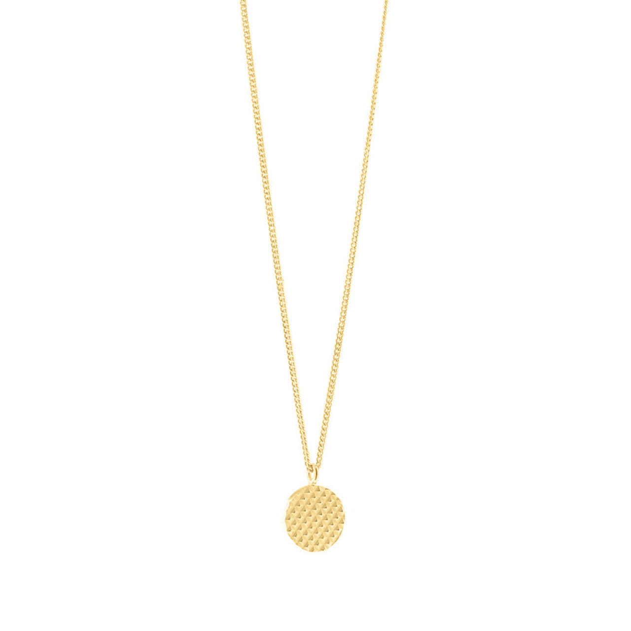 gold engraved pendant necklace