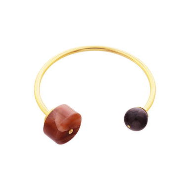 gold eudialyte and agate bracelet