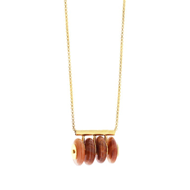 gold eudialyte statement necklace