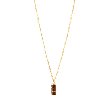 gold fine jasper pendant necklace