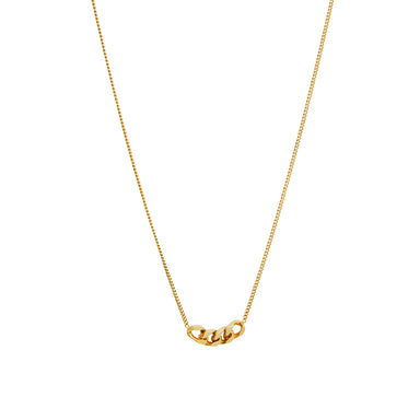 gold four link pendant necklace