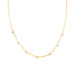 gold freshwater pearl necklace