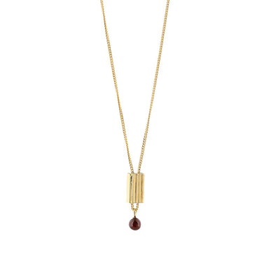 gold garnet pendant necklace