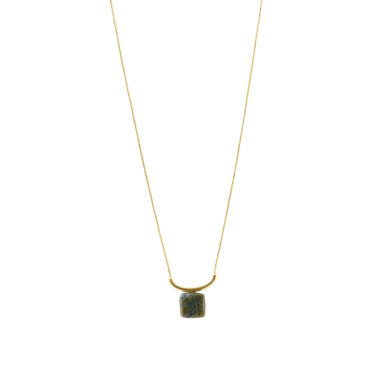 gold graceful labradorite necklace