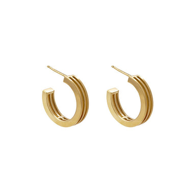 gold graphic layered hoops