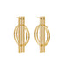 gold graphic statement earrings
