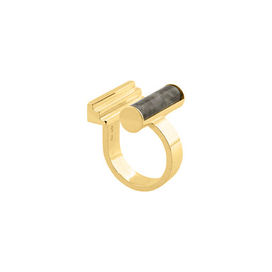 gold jade statement ring