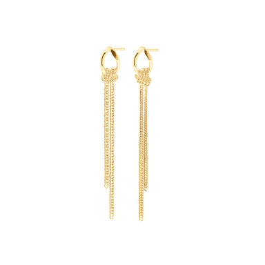 gold long flex post earrings