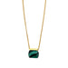 gold malachite pendant necklace