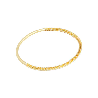 gold oval bangle
